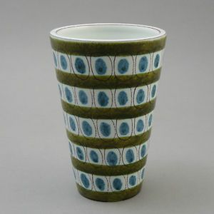 olive and aqua and it's Swedish! (Stig Lindberg, designer)