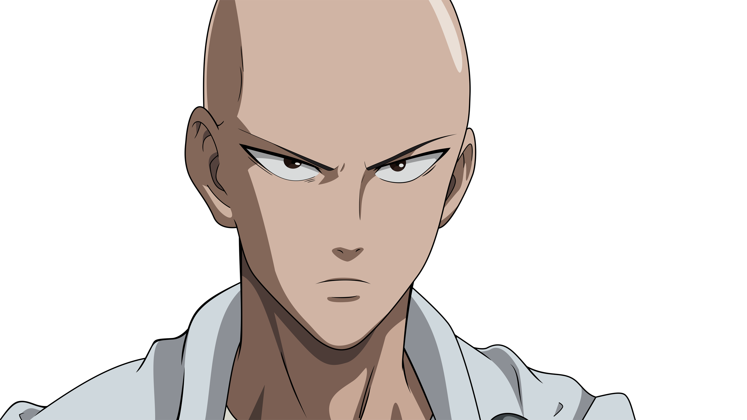 Saitama Cool Face One Punch Man HD Wallpaper Badass