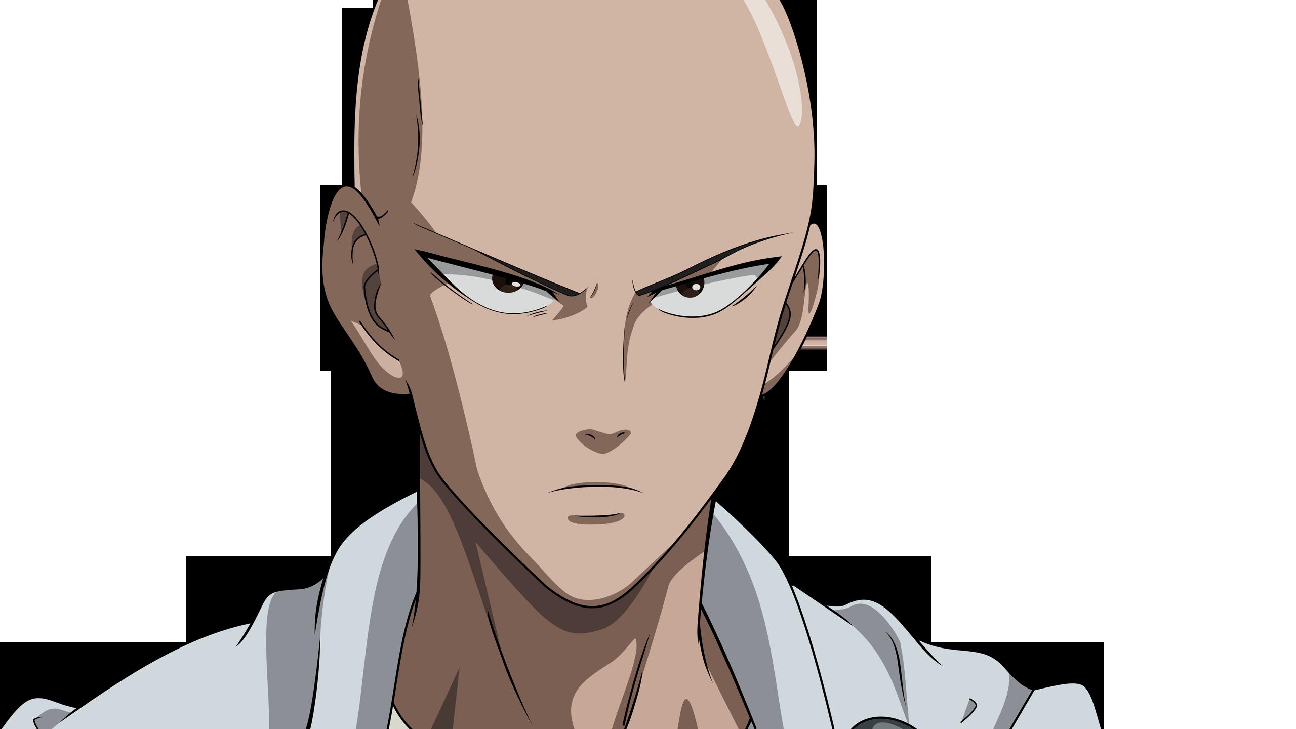Saitama Cool Face One Punch Man HD Wallpaper Badass