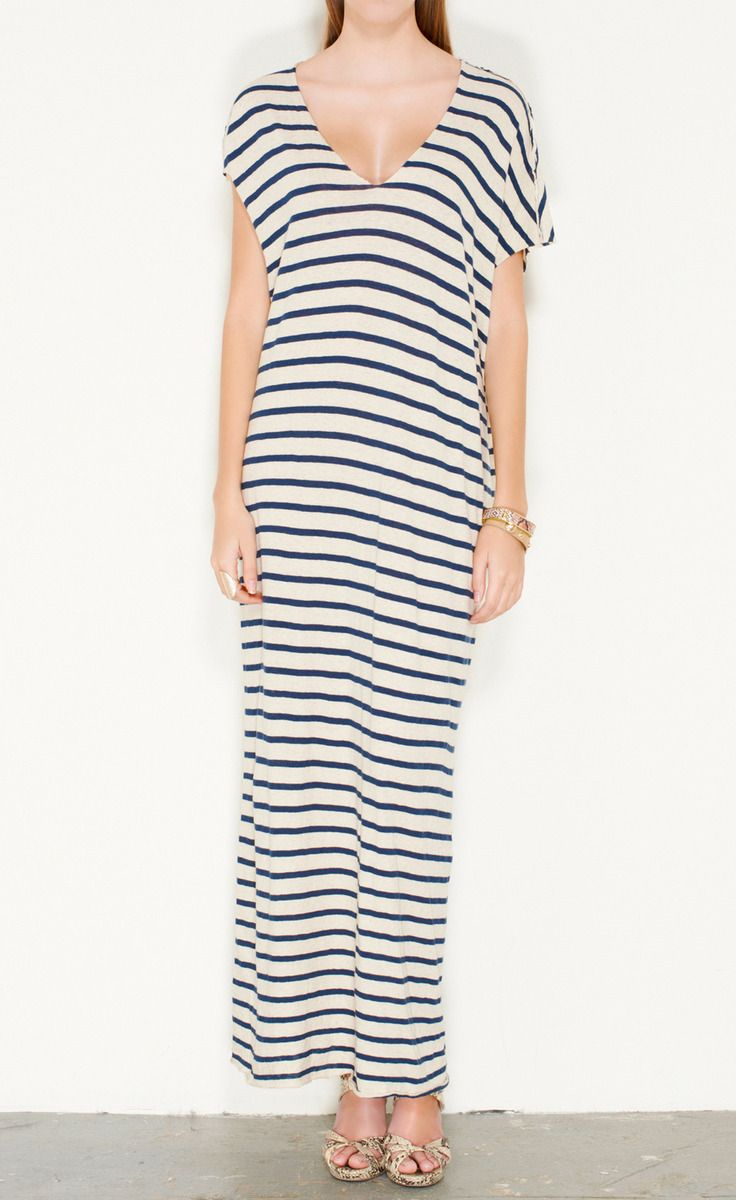 Yigal Azrouel Off White And Navy Dress