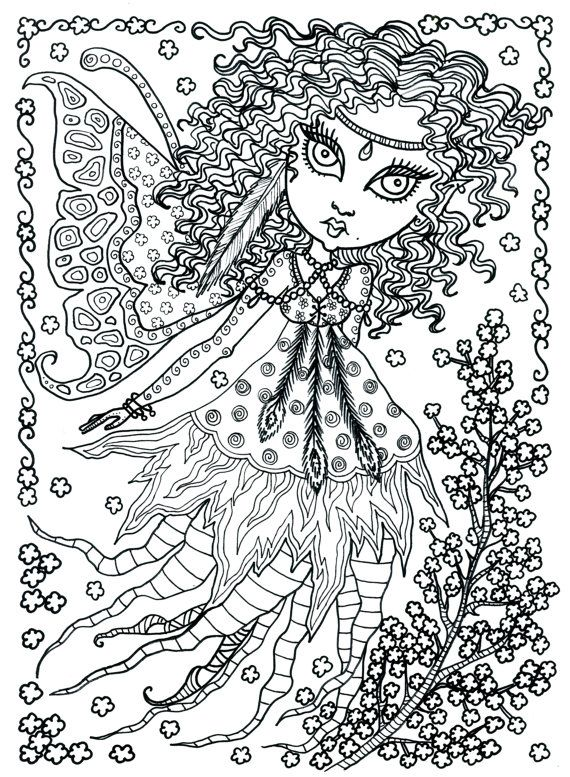 Poster Fairy Art large 11 x 14 Size Coloring page by ChubbyMermaid - best of fairy ballerina coloring pages
