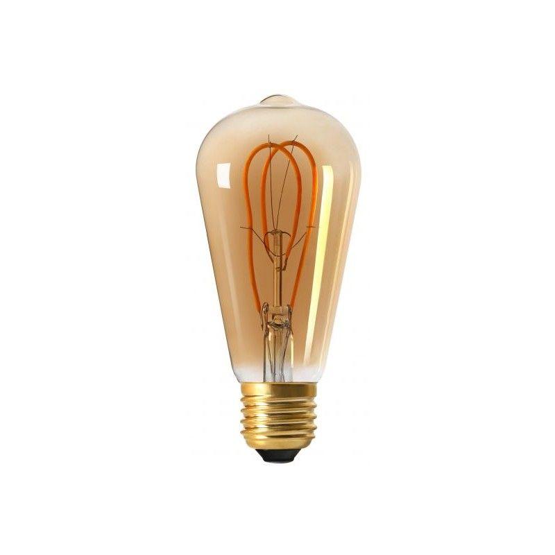 Ampoule Edison Filament Led Loops 4 W Finition Ambre Ampoule Led Ampoule Filament
