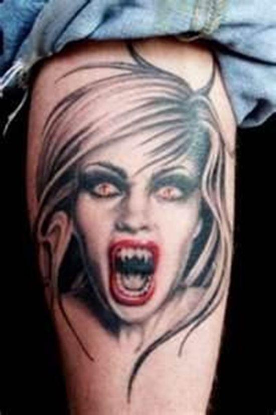 30 vampire tattoos for lovers of the dark vampire tattoo tattoo and tattoo designs. Black Bedroom Furniture Sets. Home Design Ideas