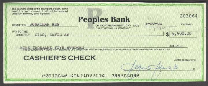 Cashiers Checks Are Guaranteed By A Bank Drawn On The Bank S Own Funds And Signed By A Cashier Business Checks Payroll Template Payroll Checks