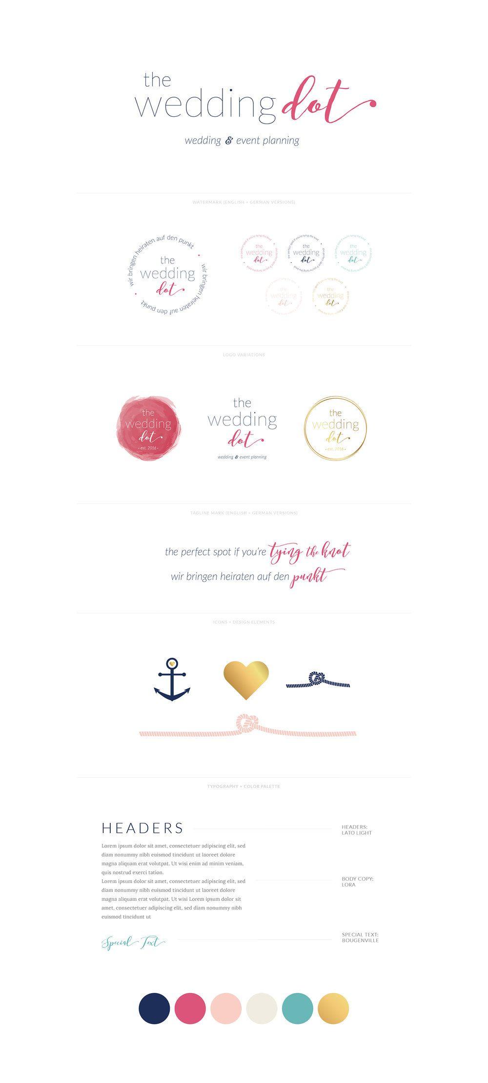 The Wedding Dot Visual Brand Design In 2020 Branding Design Visual Identity Design Visual Branding
