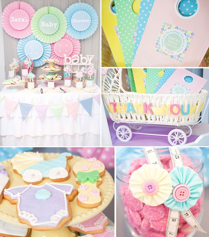 Cute as a Button Baby Shower {Party Ideas, Decor, Planning} | Babies ...