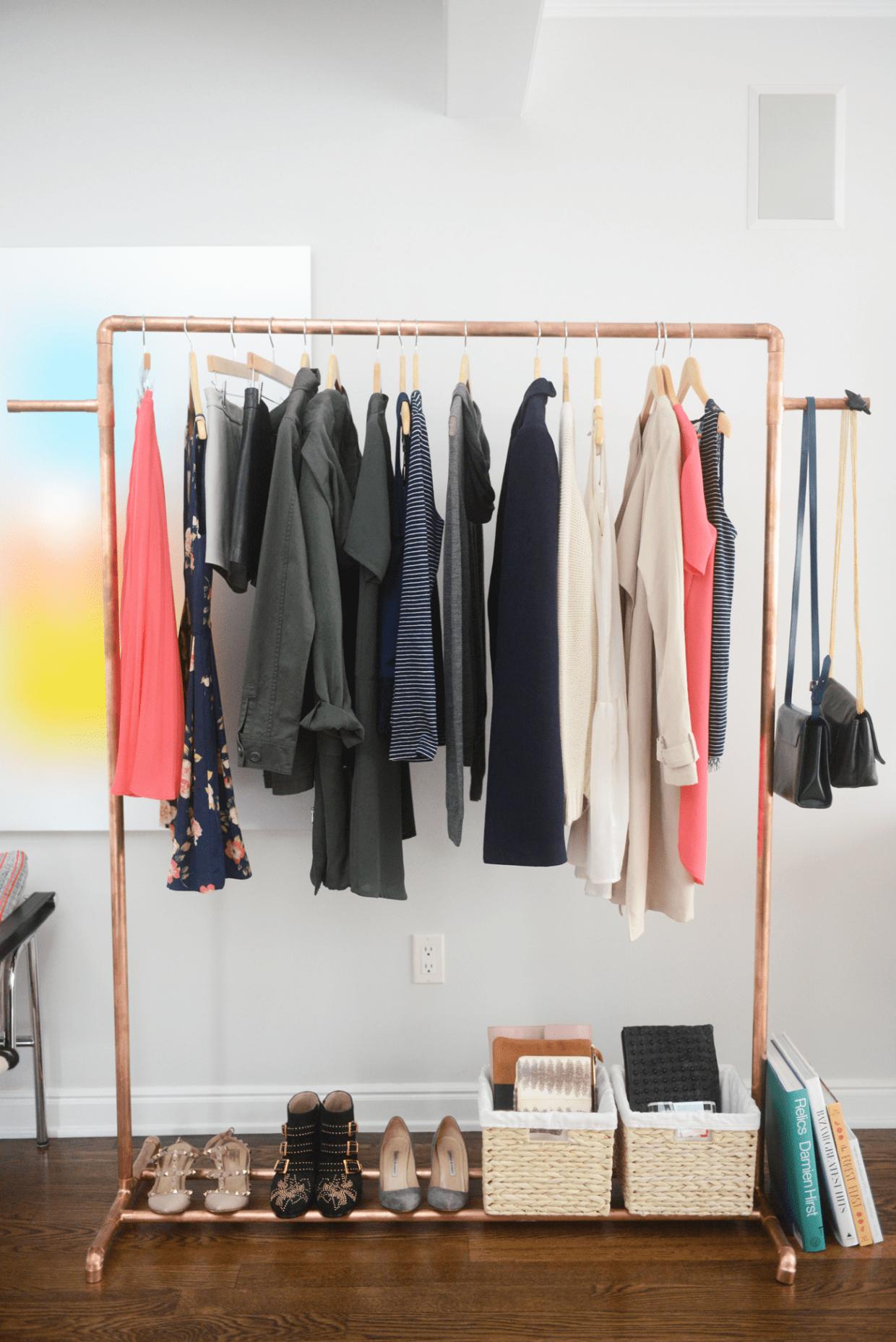 Copper Clothing Rack DIY -   20 DIY Clothes Decoration inspiration ideas