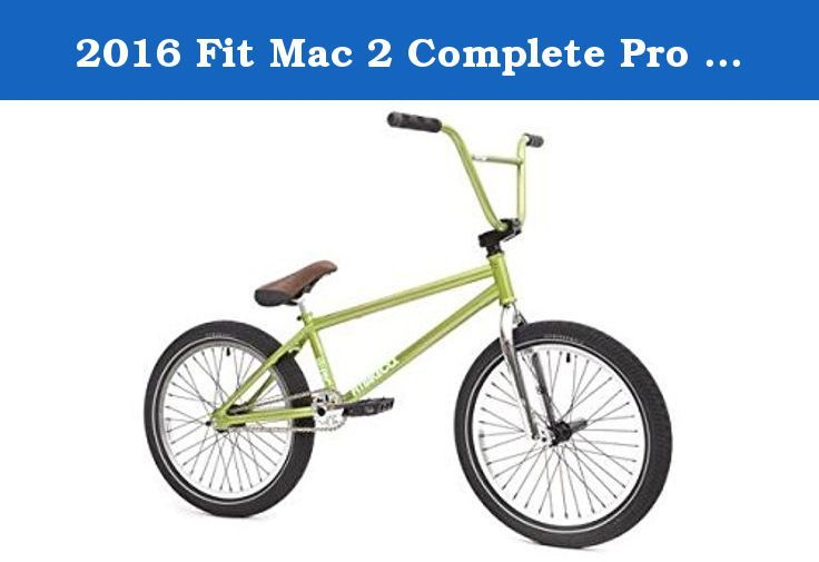 2016 Fit Mac 2 Complete Pro Bmx Bike Lime Green Specs Mac 2 Frame Crmo Triangle 21 Top Tube Headtube Integrated Bb Shell Mid Drop Outs Bmx Bikes Bmx Bike