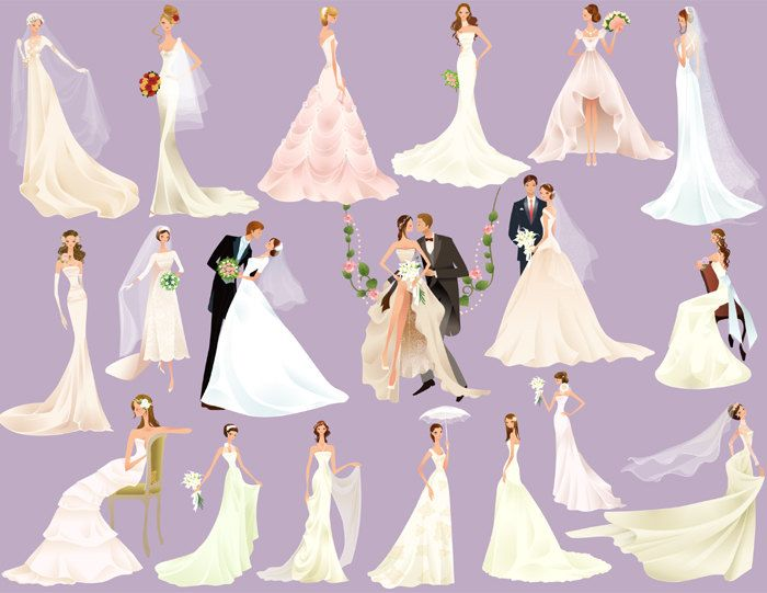 Instant Download Digital Bride Groom Clip Art By OneStopDigital