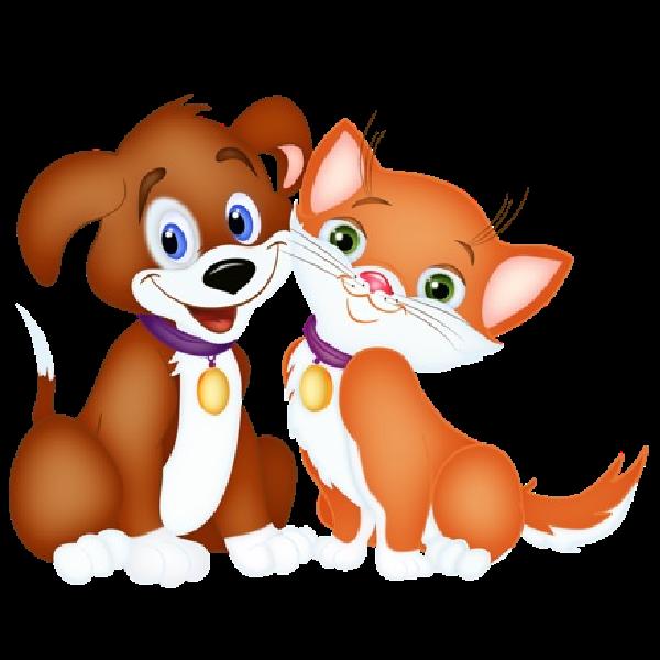 Cat Dog Cartoon Cat And Dog Cartoon Pictures Places To Cat And Dog Dog Clip Art Cat Clipart Kittens Puppies Cat Dog Cartoon Images Stock Photos Vectors Hewan