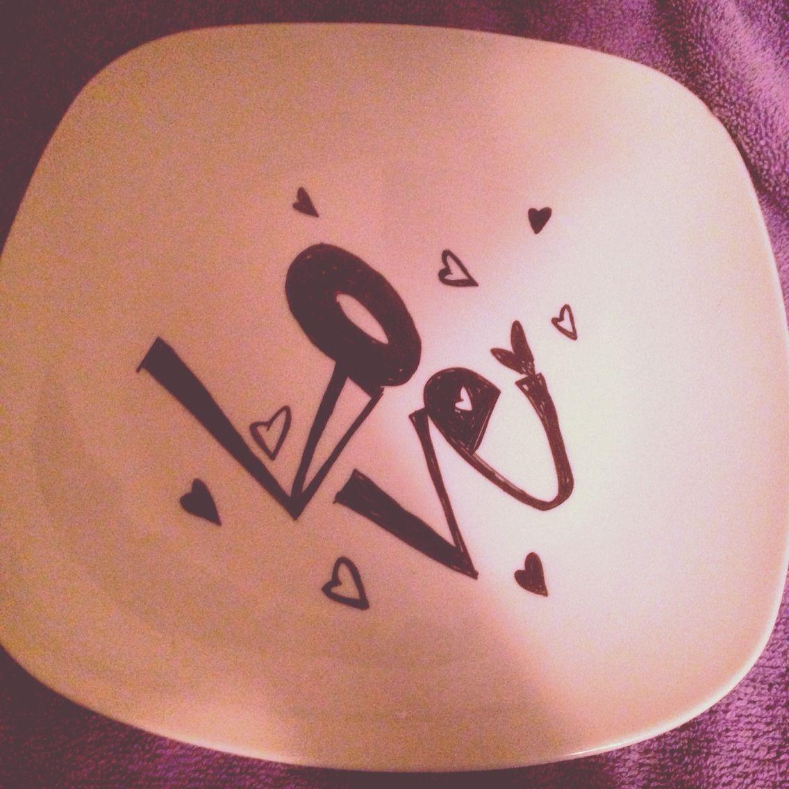 Sharpie designed plate