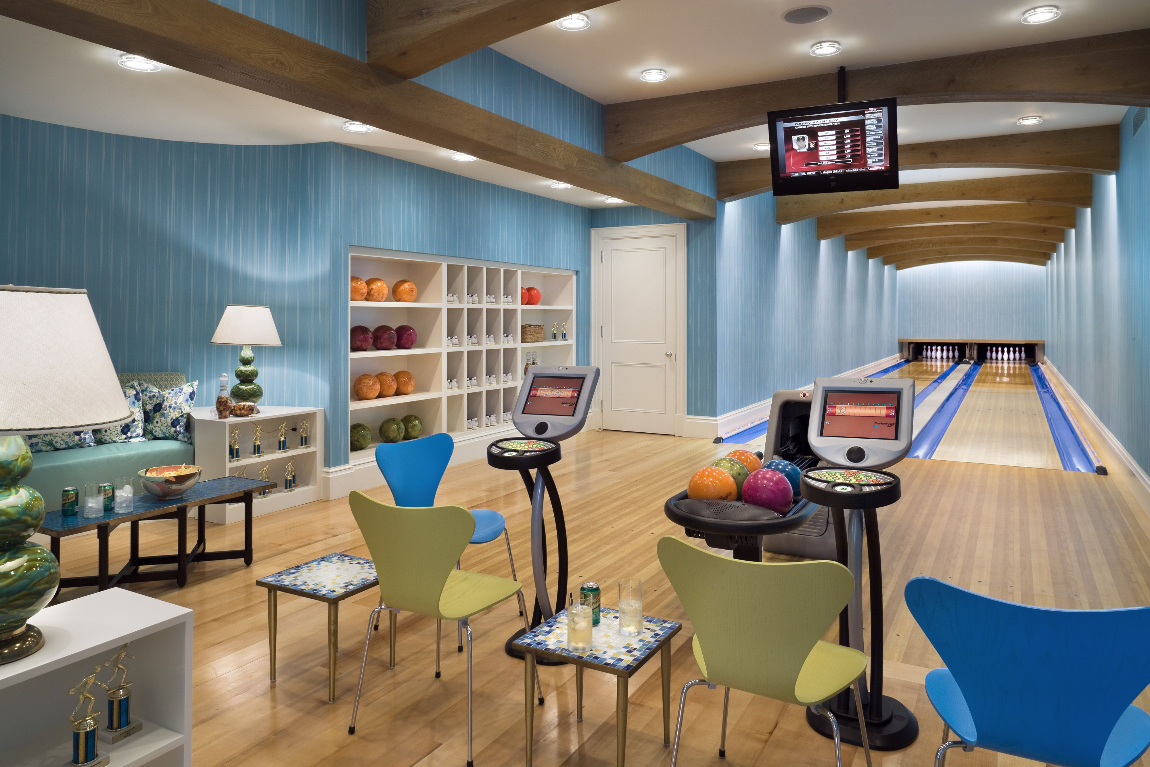 Bowling Alley at a seaside house by Robert A M Stern Architects