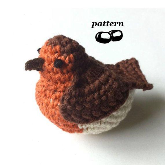 Robin Crochet Pattern / Crochet Bird Pattern / Crochet Christmas ...