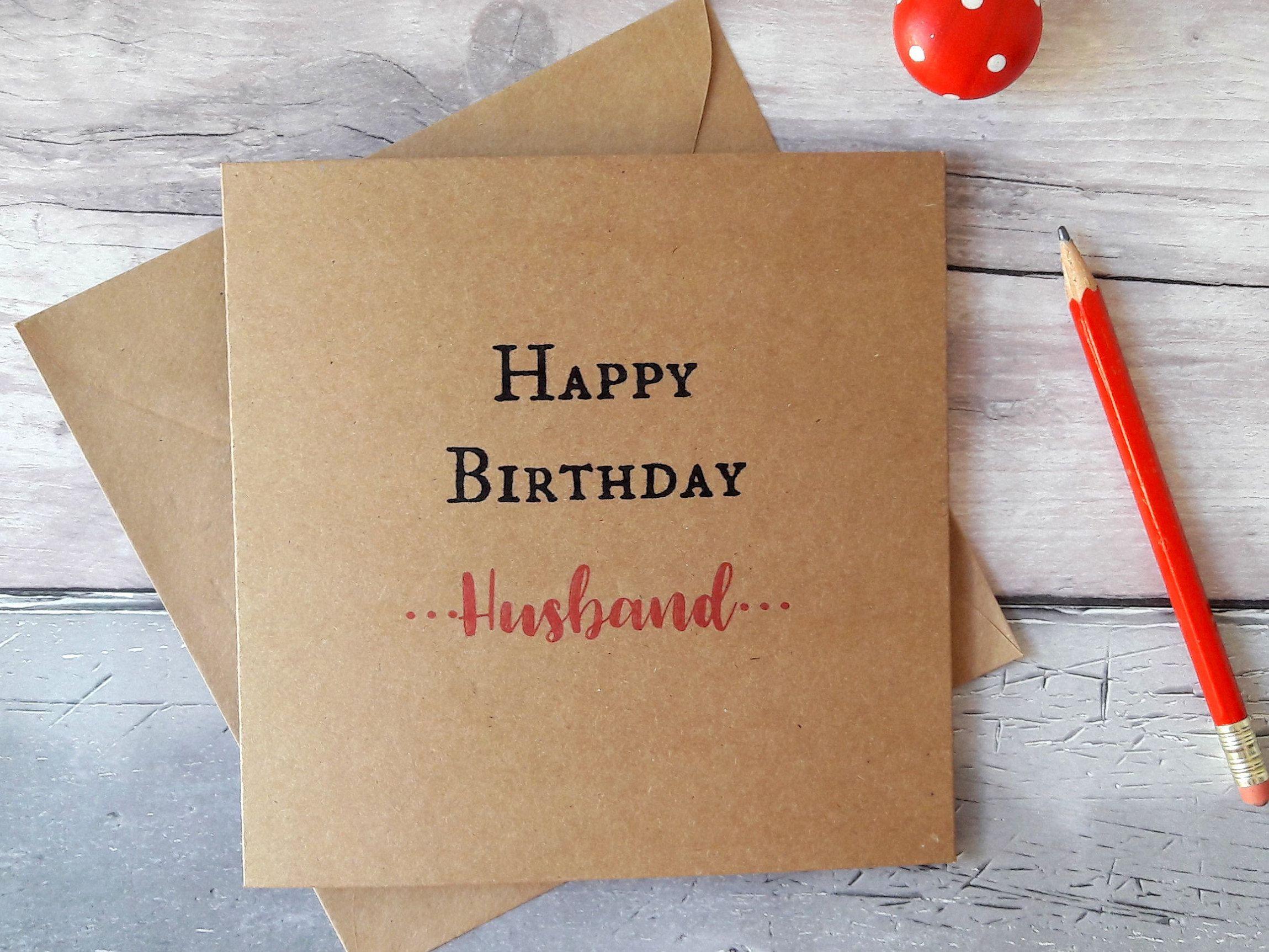 Husband Birthday Card Card For Husband Birthday Greetings Card
