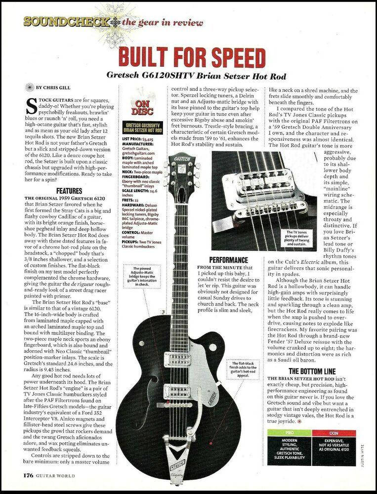 Review Brian Setzer Christmas Show 2020 Gretsch G6120 SHTV Brian Setzer Hot Rod Series Guitar sound check