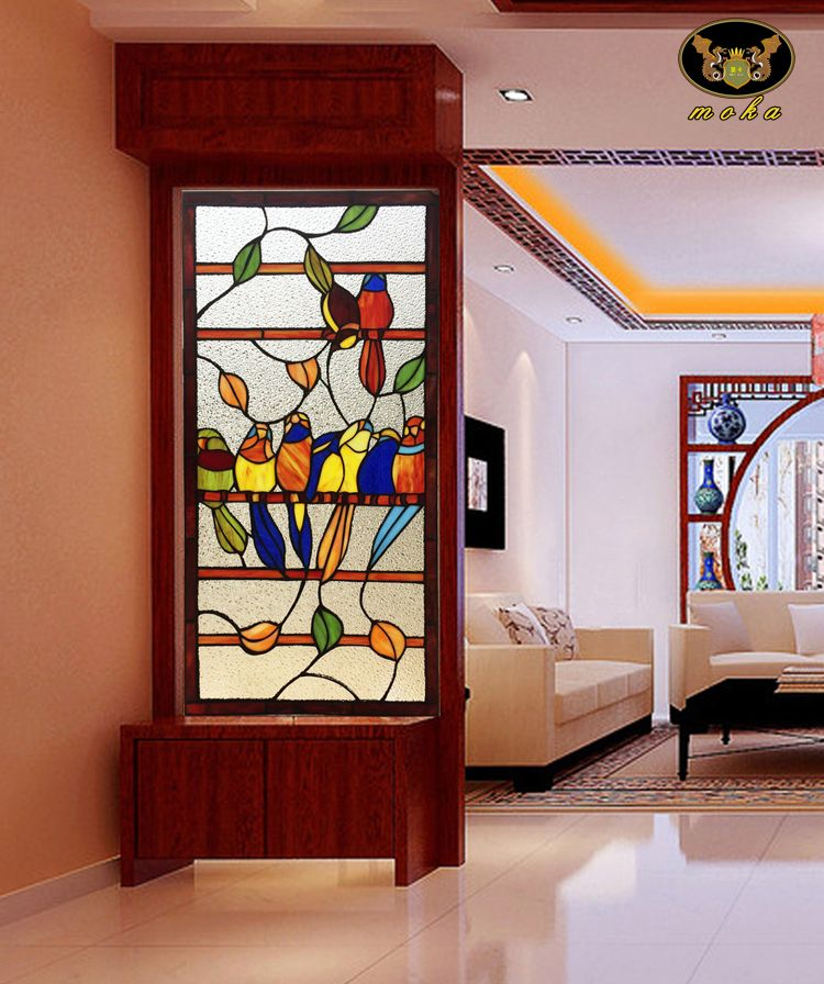Wooden Partition With Glass Sliding Wooden Partition