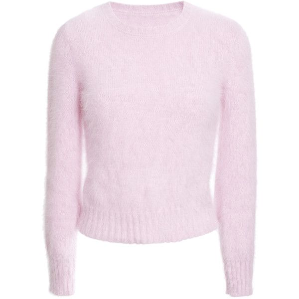 Olympia Le-Tan Candy Pink Crimp Jumper ($570) ❤ liked on Polyvore ...