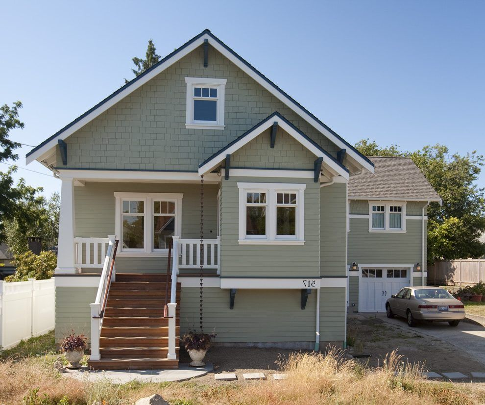 Exterior Window Trim Ideas Exterior Craftsman With Wood Columns Rain Chain House Numbers Craftsman Exterior Window Trim Exterior Craftsman Style Exterior