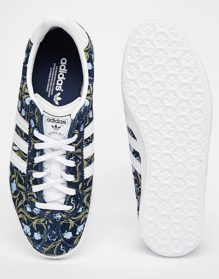adidas Gazelle Floral Print Trainers