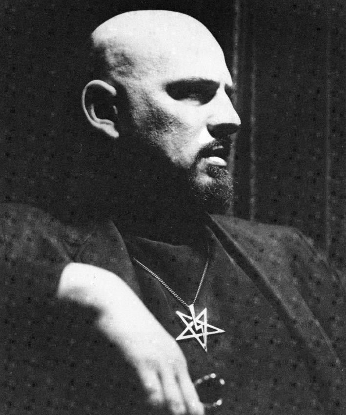 Lavey With Personal Satanic Lightning Bolt Pentagram Occult