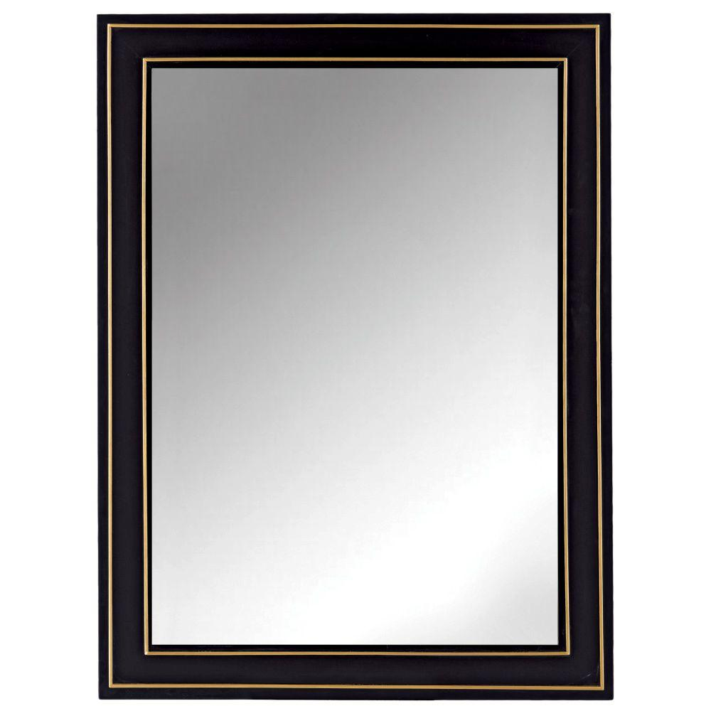 Home Decorators Collection 30 In W X 10 In H Framed Rectangular Bathroom Vanity Mirror In Black 9702900210 The Home Depot Framed Mirror Wall Frames On Wall Mirror Wall 36 x 40 mirror