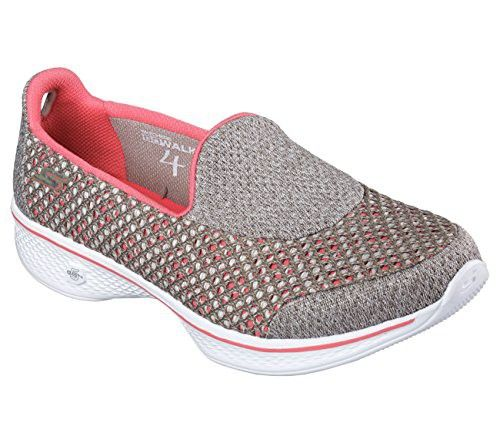 Pink shoes · Skechers Performance Women's Go Walk 4 Kindle Walking Shoe,  Taupe/Coral, ...