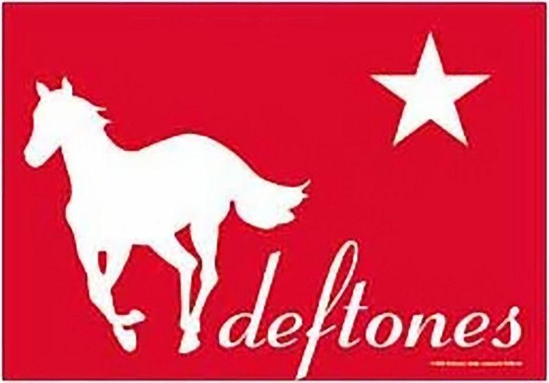 Deftones Poster Flag Red Pony Logo Tapestry