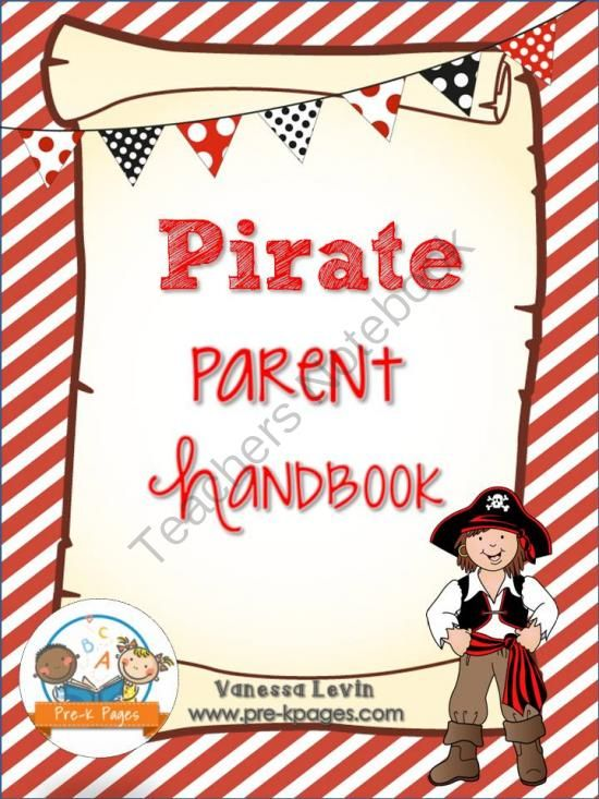 Pirate theme parent handbook printable back to school pirate theme parent handbook printable back to school personalize it from pre toneelgroepblik Images
