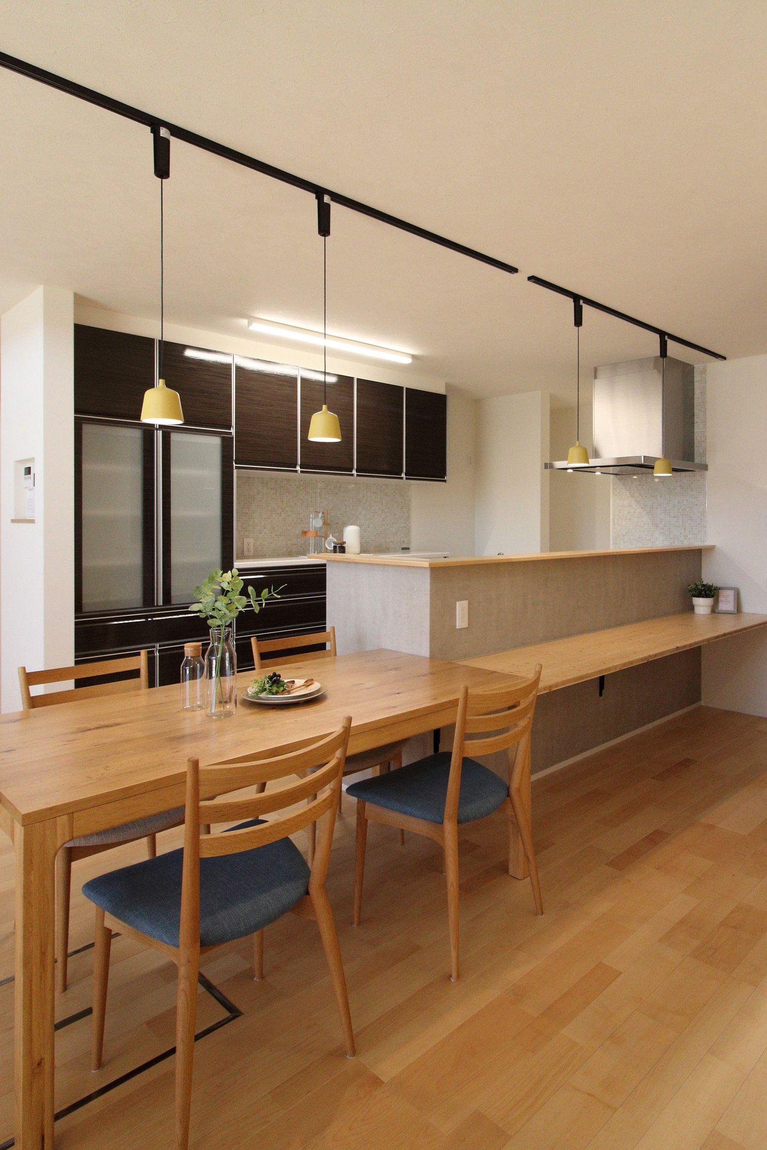 毎日が楽しくなる家 建築工房クーム Cumu 2021 キッチンレイアウト リビング キッチン キッチン ダイニング