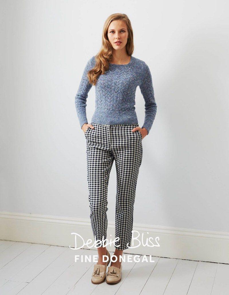 beautiful vintage lace sweater in debbie bliss fine donegal