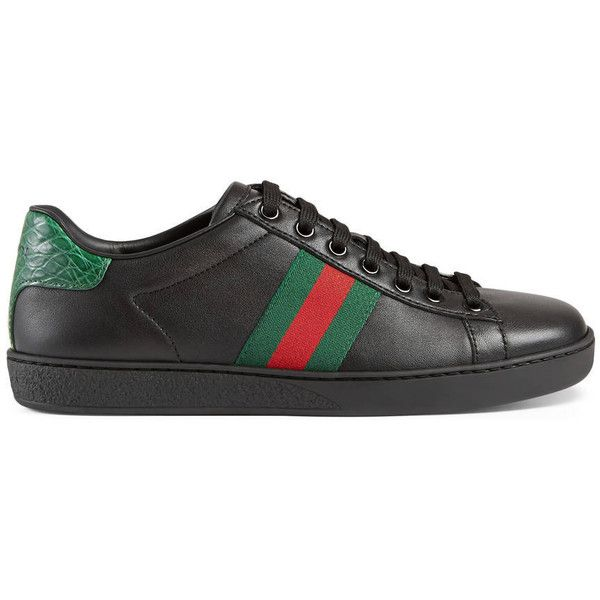 Gucci Ace Leather Low-Top Sneaker ($535