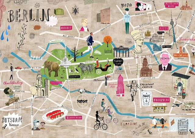 The Coolest Design Maps Of Berlin Berlin Travel Berlin