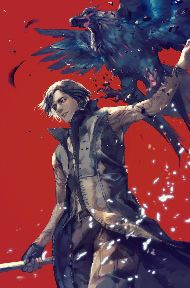 Devil May Cry 5 V By hage_2013 Devil may cry, Character art