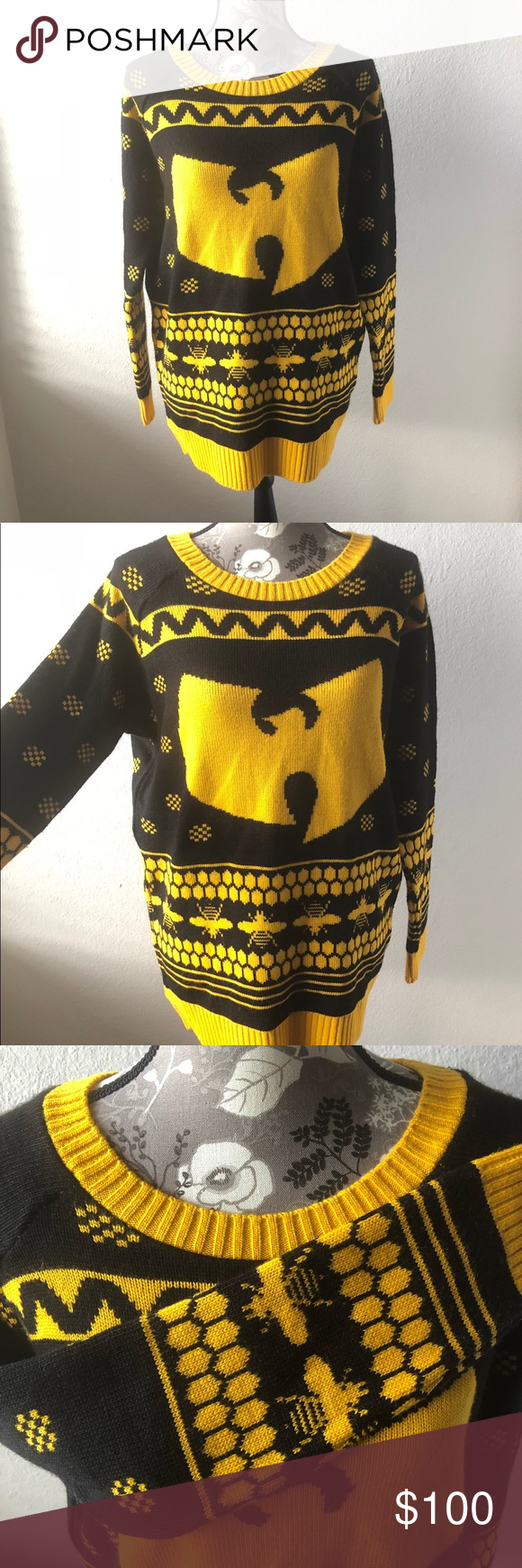 Wu Tang Clan Ugly Christmas Knit Sweater Nwt My Posh Picks
