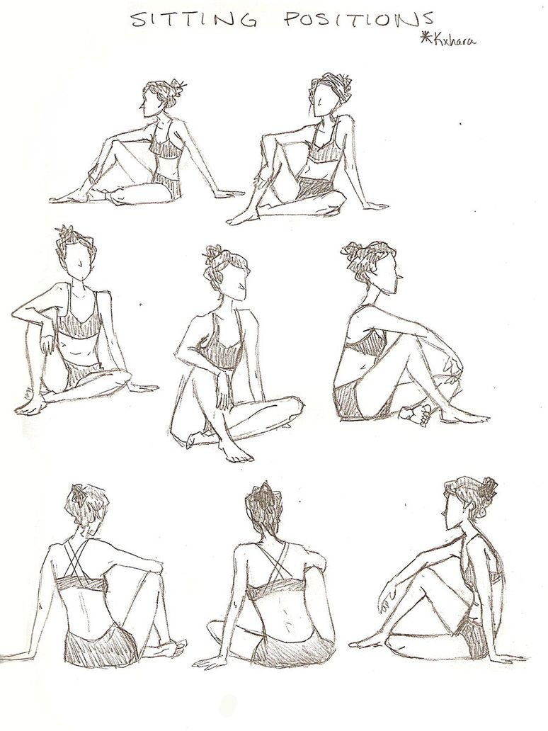 Sitting Positions By Sylviamain On Deviantart Drawing People Drawing Poses Figure Drawing Reference