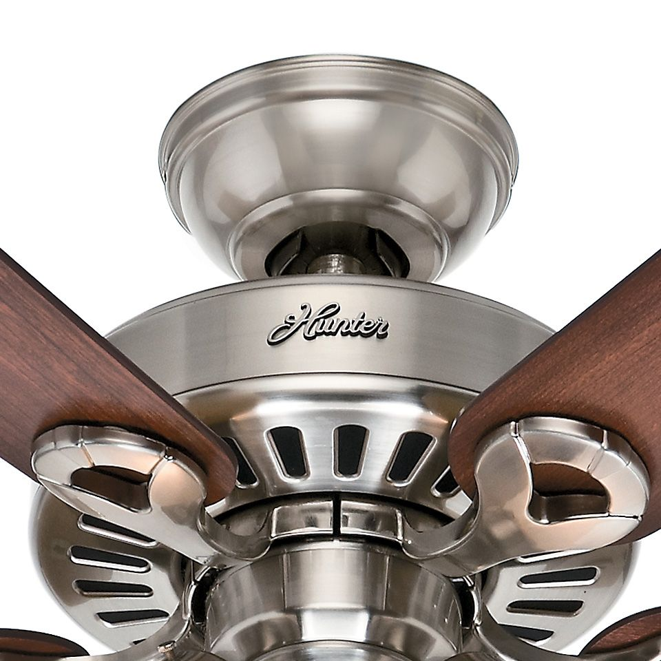Hunter 44 inch brushed nickel finish ceiling fan with remote ceiling hunter 44 inch brushed nickel finish ceiling fan with remote control mozeypictures Choice Image