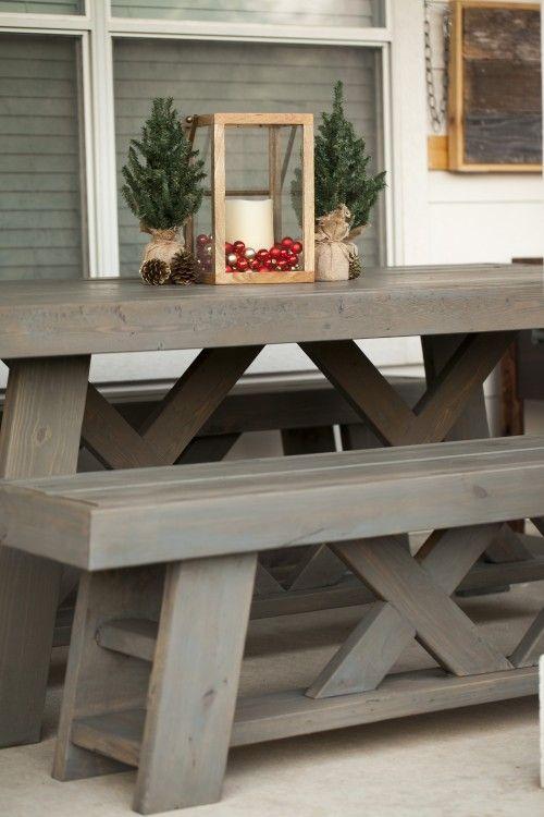 DIY Outdoor Patio Table U0026 Benches
