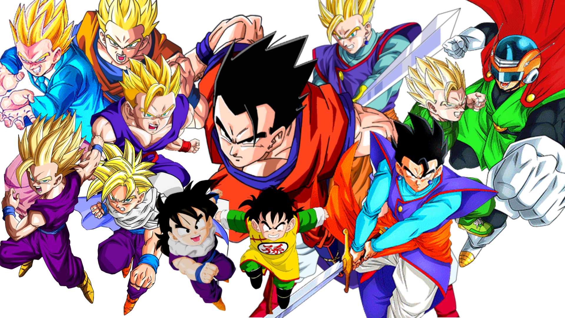 dragon ball dragon ball z dragon ball super gohan forms