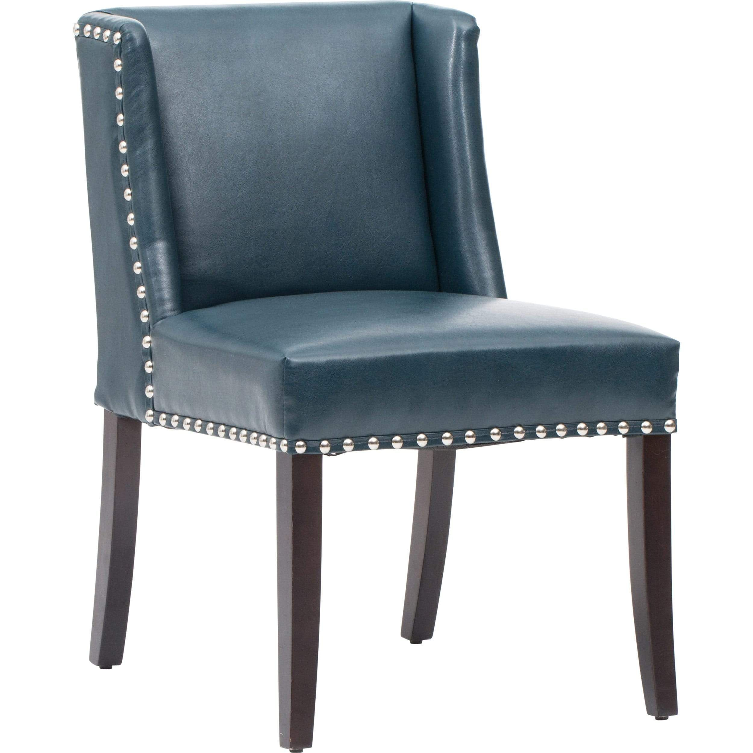 Marlin Leather Dining Chair Blue Set Of 2 In 2021 Leather Dining Chairs Dining Chairs Leather Dining Room Chairs