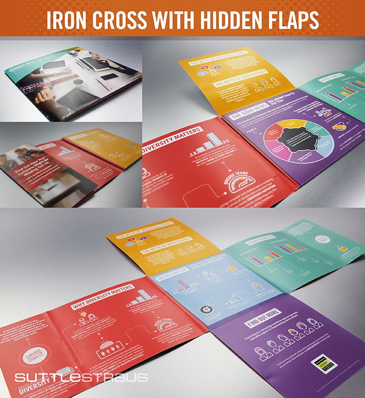 modified iron cross promotional brochure a hidden inside flap