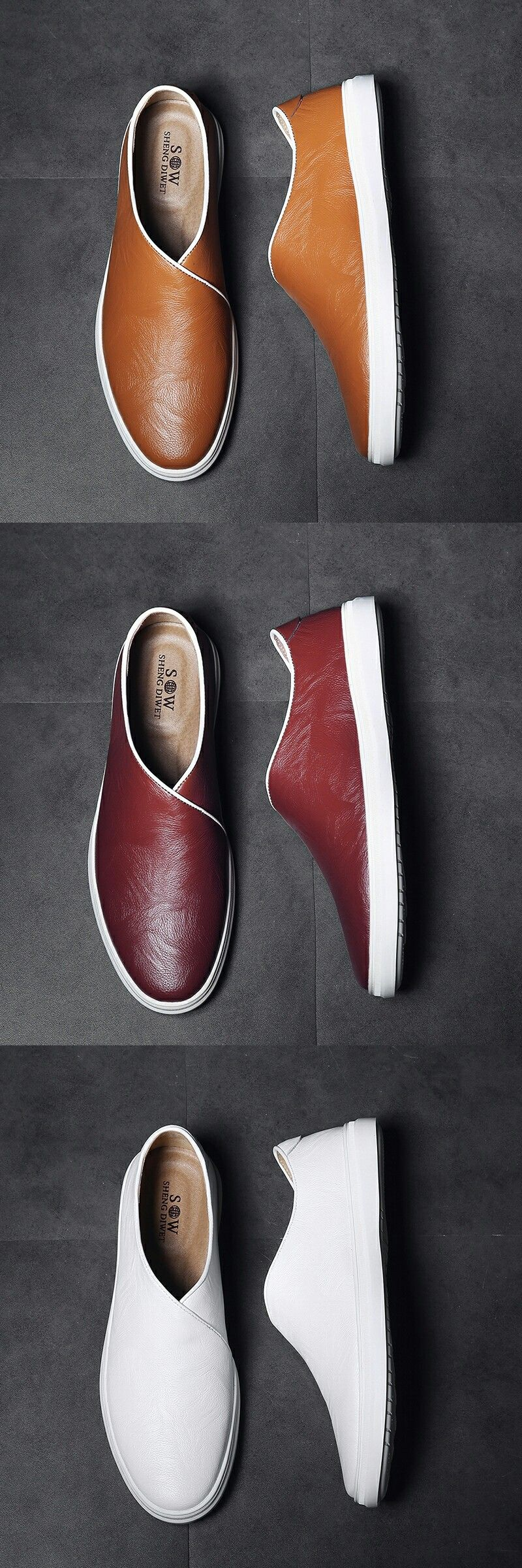 710ab53d5b79 US  29.8  Click to buy  Prelesty New Leather Shoes Men Casual Genuine Cow  Leather Loafers Slip On Formal Driving Soft Footwear
