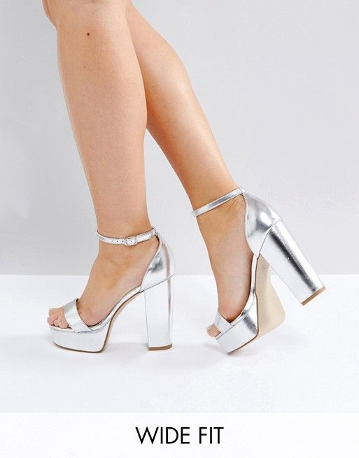 New Look Wide Fit Barely There Metallic