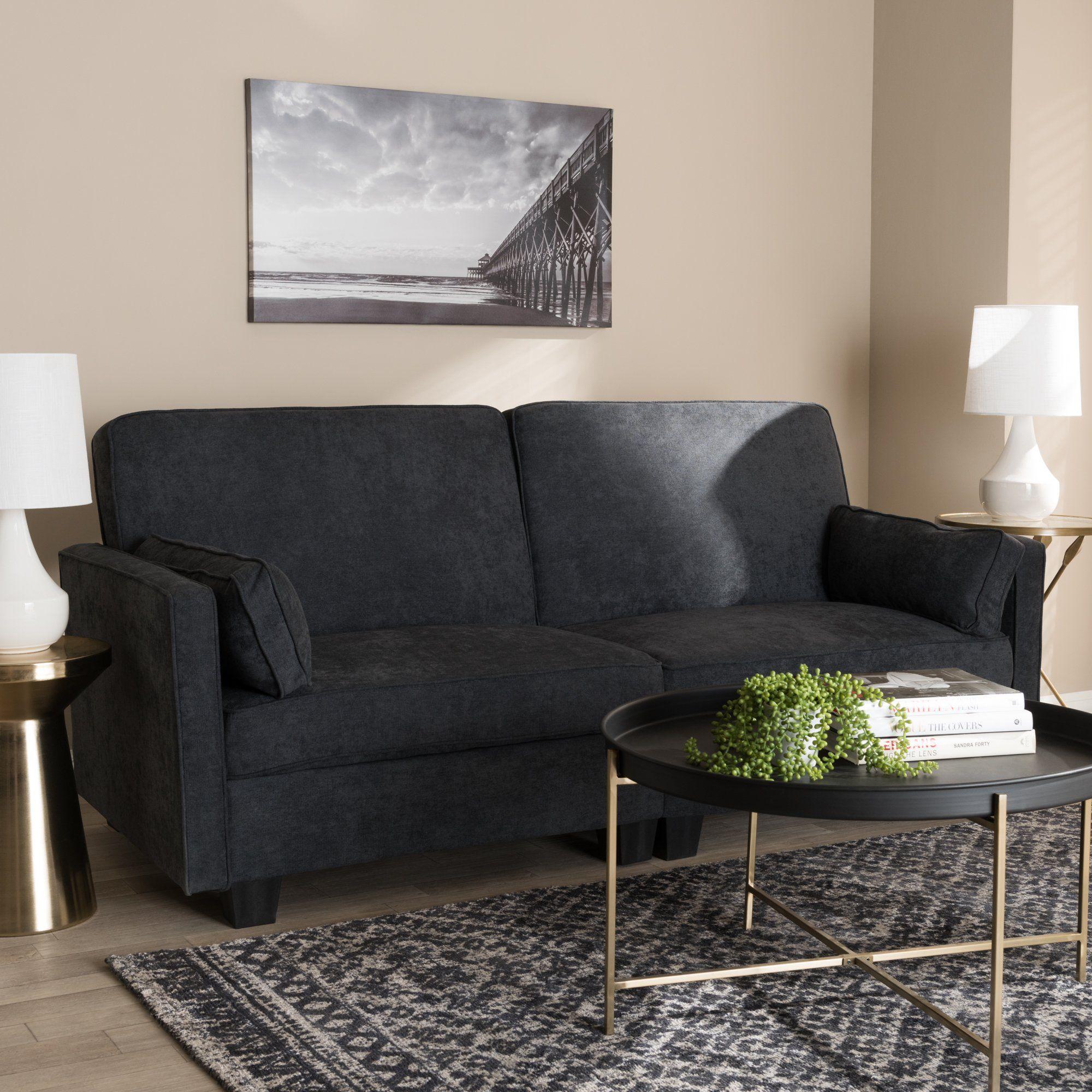 Baxton Studio Felicity Modern And Contemporary Dark Gray Fabric