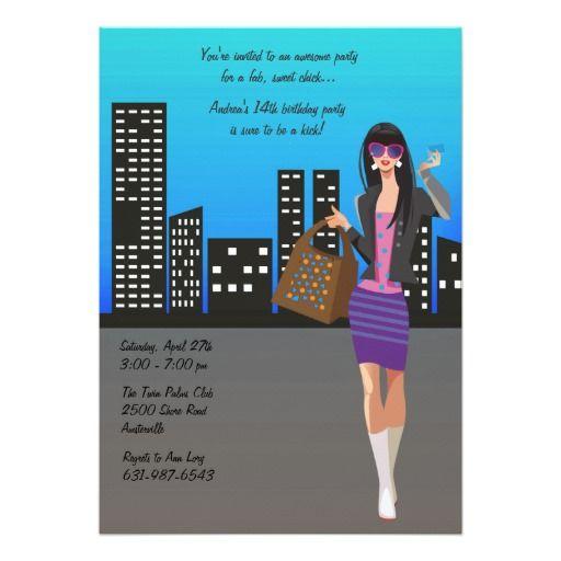Shopping Girl Invitation