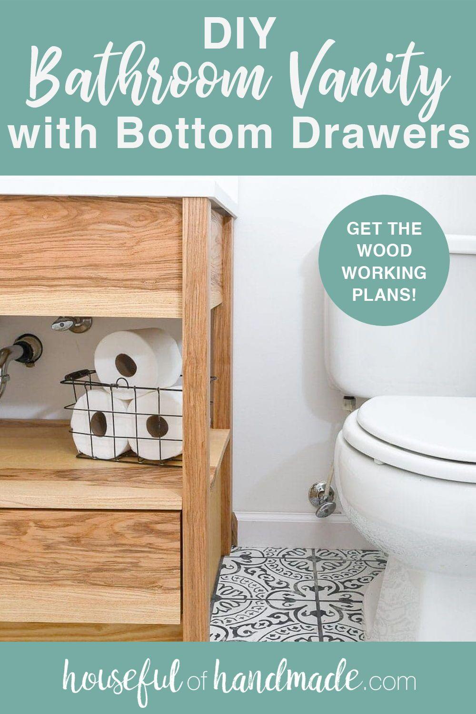 Diy Bathroom Vanity With Bottom Drawers Diy Bathroom Diy Bathroom Vanity Bathroom Vanity [ 1500 x 1000 Pixel ]