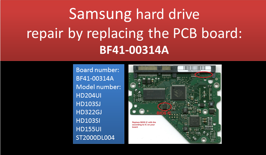 How to repair Samsung HDD by swap PCB board BF41-00314A - Imgur ...