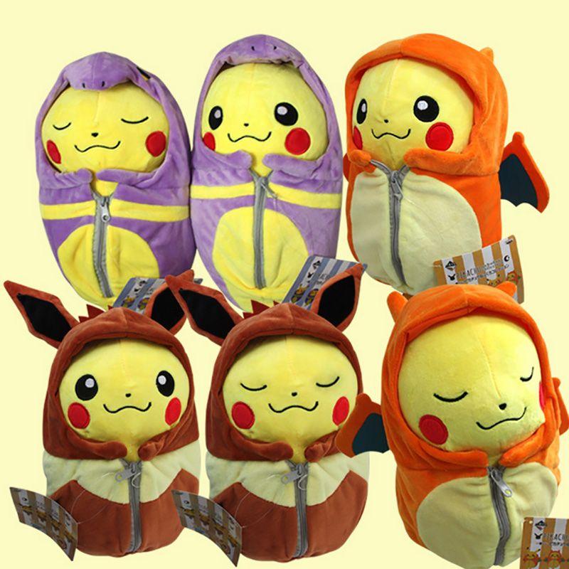 Sleeping Bag Pikachu Animal Dolls, 25 CM Cute Baby Plush Toys ...