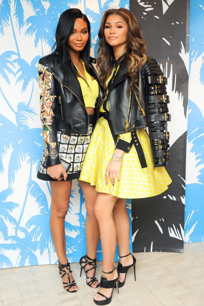 Chanel Iman and Zendaya [Photo by Neil Rasmus/BFAnyc.com]