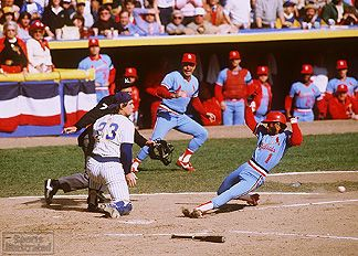 1982 St Louis Cardinals 1982 Ozzie Smith Of The St Louis Cardinals Comes Home Photograph By
