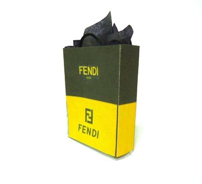 Fendi Miniature Shopping Bag -- I have over twenty famous-name ...